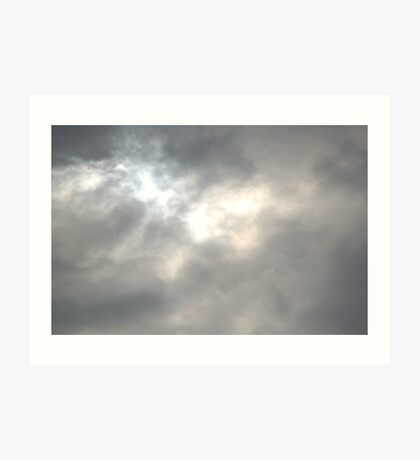 Staring into the Clouds Art Print