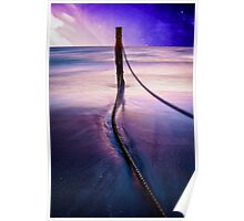 Pole in Water Poster
