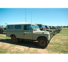 Landrovers Photographic Print