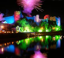 PEMBROKE CASTLE AT NIGHT by kfbphoto