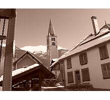 serre chevalier town Photographic Print