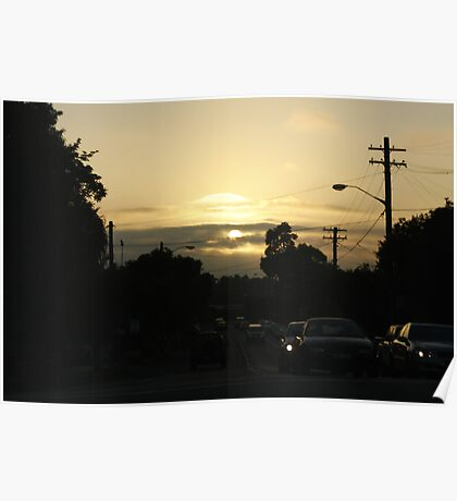 Dawn on the Road Poster