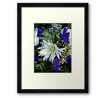 White and Purple Flowers Framed Print