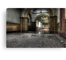 Tiled corridor Canvas Print