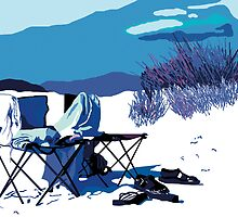 Two chairs on the beach by Gloria Ferreira
