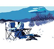 Two chairs on the beach Photographic Print