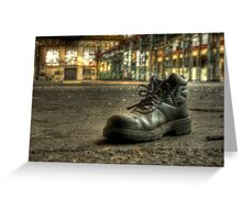 Lonely Boot Greeting Card