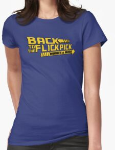 Back to the Flick Pick - Yellow Logo Womens Fitted T-Shirt