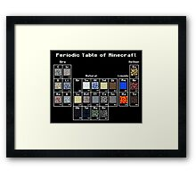 Periodic Minecraft Framed Print