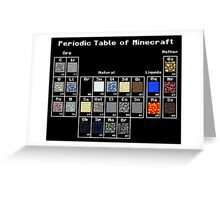 Periodic Minecraft Greeting Card