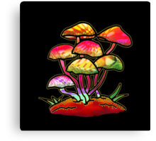Cluster of Shrooms  Canvas Print