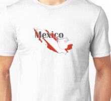 Mexico Diving Diver Flag Map Unisex T-Shirt