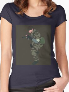 MGS3 Snake minimalist Women's Fitted Scoop T-Shirt