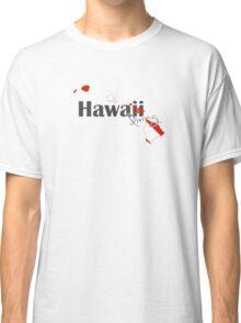 Hawaii Island Diving Diver Flag Map Classic T-Shirt