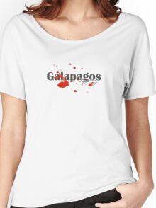 Galapagos Islands Diving Diver Flag Map Women's Relaxed Fit T-Shirt
