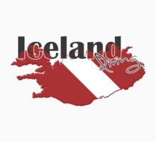Iceland Diving Diver Flag Map Kids Clothes