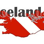 Iceland Diving Diver Flag Map by surgedesigns
