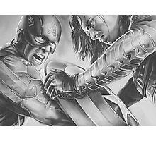 captain vs soldier Photographic Print