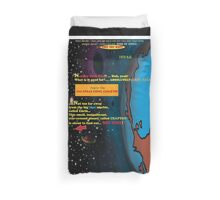 Bird of Steel Comix - Page #1 of 8 (Red Bubble POP-ART COLLECTION SERIES) Duvet Cover
