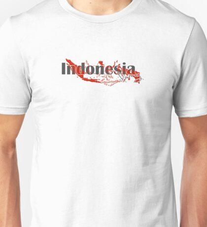 Indonesia Diving Diver Flag Map Unisex T-Shirt