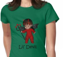 Lil Devil Womens Fitted T-Shirt