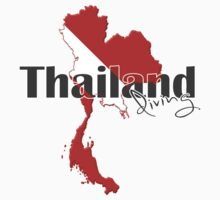 Thailand Diving Diver Flag Map Kids Clothes