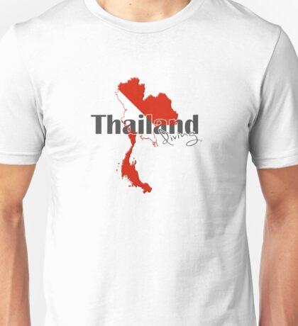 Thailand Diving Diver Flag Map Unisex T-Shirt