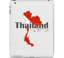 Thailand Diving Diver Flag Map iPad Case/Skin