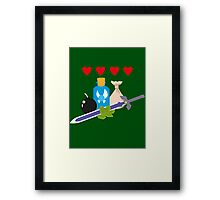 Legend of Zelda Items Framed Print