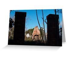 Ruin at Horseshoe Bend, Maitland Greeting Card