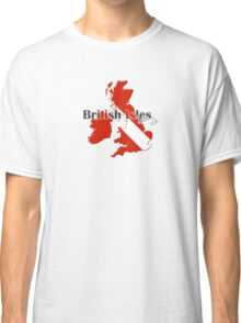 British Isles Diving Diver Flag Map Classic T-Shirt