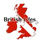 British Isles Diving Diver Flag Map by surgedesigns