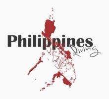 Philippines Diving Diver Flag Map One Piece - Long Sleeve