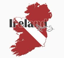 Ireland Diving Diver Flag Map Kids Clothes