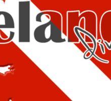 Ireland Diving Diver Flag Map Sticker