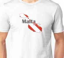 Malta Islands Diving Diver Flag Map Unisex T-Shirt