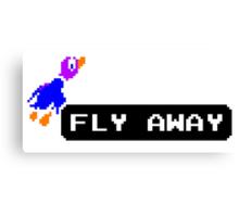 Flyaway Duck Canvas Print