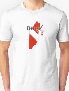 Belize Diving Diver Flag Map T-Shirt