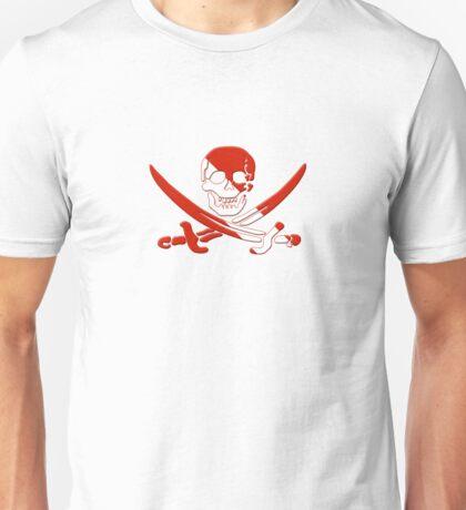 Scuba Diving Pirate Skull and Swords Unisex T-Shirt