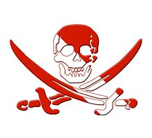Scuba Diving Pirate Skull and Swords by surgedesigns