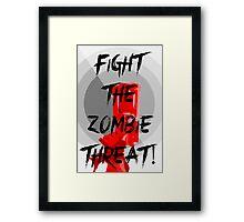 Human VS Zombies - Anti-Zombie Propaganda Framed Print
