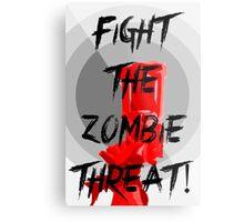 Human VS Zombies - Anti-Zombie Propaganda Metal Print