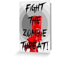 Anti-Zombie Propaganda Greeting Card