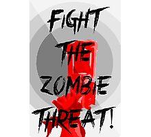 Human VS Zombies - Anti-Zombie Propaganda Photographic Print