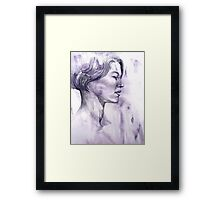 Portrait drawing of a Young Woman Framed Print
