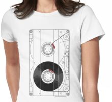 Cassette Womens Fitted T-Shirt