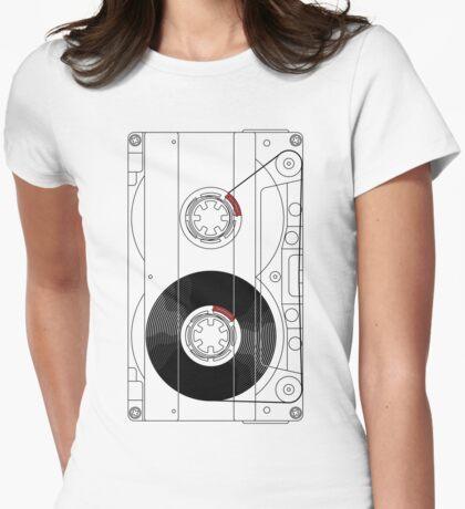 Cassette Womens Fitted T-Shirt
