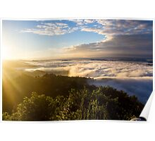 Sunrise Over a Cloudy Valley Near Pokhara, Nepal Poster