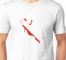 Mermaid Scuba Diver Silhouette Unisex T-Shirt