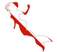 Mermaid Scuba Diver Silhouette by surgedesigns